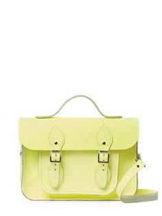 Cambridge Satchel Strappy Leather Satchel Bag In Yellow Leather Satchel, Satchel Bag, Cambridge Satchel, Shoulder Strap, Shoulder Bags, Minimalist Fashion, Clutch Bag, Handbags, Yellow