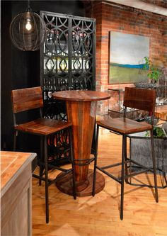 Give Your Next Meal A Little Lift With A Solid Wood Bar Table! Perfect For.  Small Dining RoomsWood BarsEntertainment ...