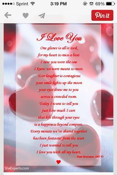 I love you with all of my heart.thank you baby for showing me true happiness and true unconditional love.you are my one and only always and forever. Love You Poems, Romantic Love Poems, Love Poem For Her, Poems For Him, Love Quotes For Her, Love Yourself Quotes, I Love My Wife, Soulmate Love Quotes, True Love Quotes