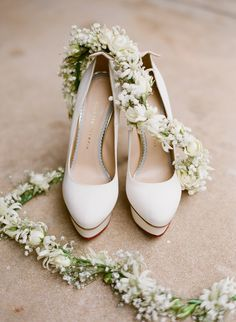Charlotte Olympia shoes and garland.