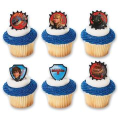 DecoPac How to Train Your Dragon 2 Hiccup and Friends Cupcake Rings (12 Count) >>> Quickly view this special product, click the image : baking decorations