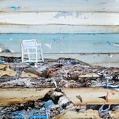 """Marginal Way of Life - Danny Phillips art print, UNFRAMED, Beach chair sailing coastal ocean adirondack nautical art wall & home decor poster, ALL SIZES. This is a reproduction fine art print of a Danny Phillips' original mixed media painting. This poster comes UNFRAMED and is the perfect gift for the boat and sailing lover. This print comes square with flush edges or in standard sizes with 1/2"""" side white border backgrounds.**See pictures for examples**.This gift is an ideal addition for..."""