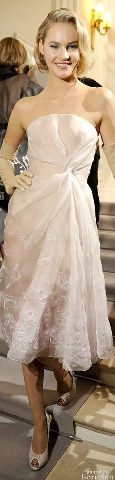 Dior Spring Couture 2012 Backstage - Model: Juju Ivanyuk