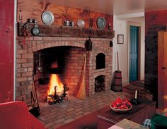 No kitchen is truly complete without a fully functional fireplace with bake ovens. Ability to roast an ox in it is optional.