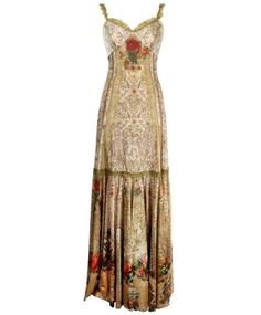 ac6f1a831a Floor-Length Special Occasion Dress Designed by Michal Negrin with Lace  Like And Roses Pattern