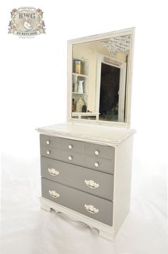 Grey and Old White Chalk Paint, even chalk painted the old handles 3 times and they are fab.