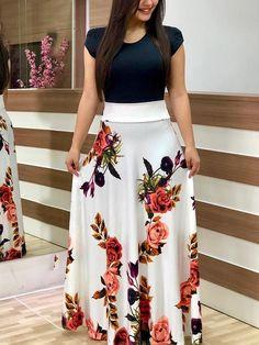 Short Sleeve Floral Print Splicing Maxi Dress dresses to wear to a wedding dresses short dress outfit dress dress dresses modest dresses Modest Dresses, Trendy Dresses, Elegant Dresses, Maxi Dresses, Skirt Outfits, Party Dresses, Mode Abaya, White Dresses For Women, Curvy Girl Fashion
