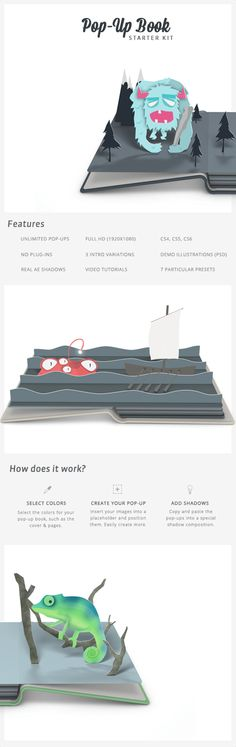 Pop-Up Book Starter Kit by Thomas Kovar, via Behance