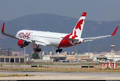 C-FMWV Air Canada Rouge Boeing 767-333(ER)(WL) taken 09. May 2014 at Barcelona - El Prat (BCN / LEBL) airport, Spain by manuel del amo