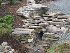 Water Features Drainage solutions Pictures and Photos Sump Pump Drainage, Drainage Pipe, Backyard Drainage, Landscaping With Boulders, Driveway Landscaping, Luxury Landscaping, Landscaping Ideas, Landscaping Company, Driveway Culvert