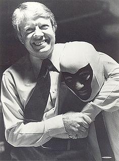 President Jimmy Carter and Mr. Wrestling 2