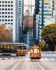 California Street, San Francisco, and the California Street Trolley.