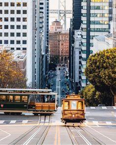 California Street, San Francisco, and the California Street Trolley.