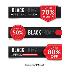 Modern Set Of Black Friday Banners With Flat Design , moderner satz black friday-fahnen mit flachem design Modern Set Of Black Friday Banners With Flat Design , Flat Design, Design Set, Black Friday, Email Design Inspiration, Display Banners, Sale Banner, Graphic Design Services, Label Design, Banner Design