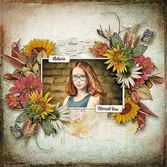 Softly by Dagi's Temp-tations (newsletter freebie) Summer End from Rosies Design - Freebie for Registered Members Just Art photo Adam Wawrzyniak use with permission End Of Summer, Photo Art, Floral Wreath, Scrap, Layout, Wreaths, Sweet, Blog, Design