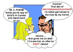 """SOON SHE IS GREETED BY A GREAT HOLLYWOOD MOVIE MOGUL, WHOSE NAME WE SHALL NOT """"DRAG"""" INTO THIS, BUT MERELY CALL """"THE MYSTERIOUS MR. X""""!"""