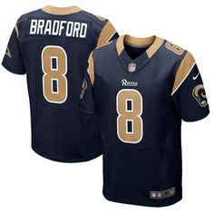 Sam Bradford St. Louis Rams Nike Elite Jersey - Navy Blue Camisetas De  Fútbol 6c5876bf0981a