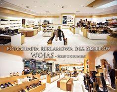 Zapraszam do oglądnięcia serii zdjęć, z sesji reklamowej wnętrz sklepu obuwniczego WOJAS. Sklep znajduje się w galerii handlowej w Warszawie.