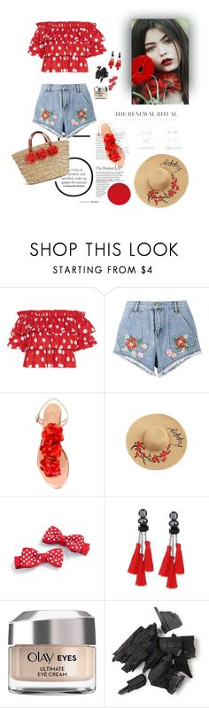 """Little redness"" by estetic ❤ liked on Polyvore featuring Caroline Constas, House of Holland, Charlotte Olympia and Olay"