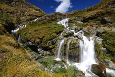 Routeburn Falls by Itay Gal on New Zealand, Waterfall, Track, Outdoor, Outdoors, Runway, Waterfalls, Truck, Running