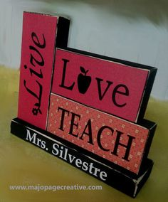 Hey, I found this really awesome Etsy listing at https://www.etsy.com/listing/231771834/live-love-teach-wooden-block-art-set