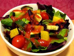 Strawberry Balsamic Vinaigrette. This would be good with gorgonzola or goat cheese & walnut salad.