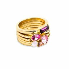 Pink Posy Rings.