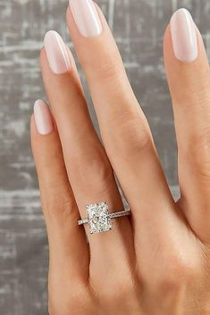 Most Popular Rings: 2019 Engagement Ring Trends ★ ring trends pave band set solitaire diamond Morganite Engagement, Rose Gold Engagement Ring, Vintage Engagement Rings, Diamond Wedding Bands, Wedding Rings, Solitaire Engagement, Solitaire Diamond, Diamond Studs, Diamond Nails