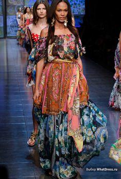 Длинные летние платья фото 2012