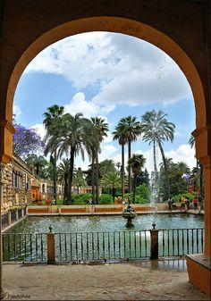 Estanque de Mercurio, Alcázar, Sevilla