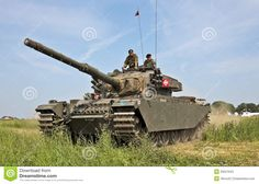 centurion-tank A later version with the 105mm gun.