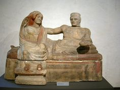 Etruscan Sarcophagus   Archaeological Museum, Florence