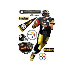 NFL Pittsburgh Steelers Ben Roethlisberger Wall Graphic * Details can be found by clicking on the image.