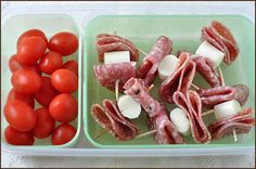 Salami With Cheese and Tomatoes