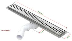 En la serie de sistemas lineales de drenaje presentamos la canaleta Silver en acero inoxidable de 1200 mmde longitud y 75 mm de ancho con sifón antiolores en PVC McAlpine incorporado y fácilmente ...