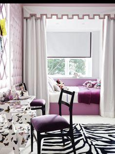 Lavender purple bedroom,  soft and feminine