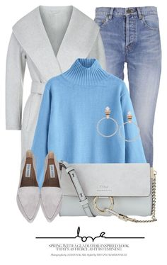 """Turtleneck"" by monmondefou ❤ liked on Polyvore featuring Yves Saint Laurent, MaxMara, Chloé and Steve Madden"