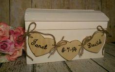 Rustic wedding card box fall wedding card box country by PineNsign, $69.95