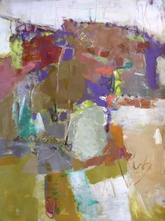 """Daily Painters Abstract Gallery: Modern Abstract Painting """"Oooh la la"""" Acrylic on 22"""" x 30"""" paper Original Art by Elizabeth Chapman"""