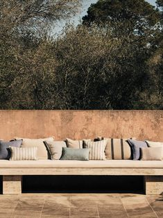 Banquette terrasse Zara Home, Outdoor Sofa, Outdoor Living, Outdoor Furniture, Outdoor Decor, Before Sunset, Banquette, Home Design Decor, Home Photo
