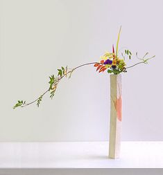 Ikebana. Love colours and flying effect :)