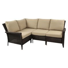 Sheffied Wicker 5-Piece Sectional Seating Patio Furniture Set
