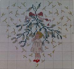 Under The Mistletoe Cross Stitch Pattern