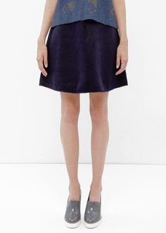 USE Unused Pippa Short Blue A line Skirt
