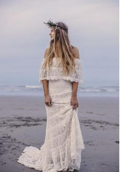 """""""Camille"""" Bohemian Wedding Dress by Daughters Of Simone - SHOP: http://www.daughtersofsimone.com/shop/camille/"""