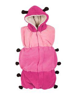Adquiere en www.bebitos.mx Costalito Oruga #chiquimundo #saquito #dormir #sueño #frio #calientito #bebé #niño #niña #baby #cute #disfraz #rosa #oruga