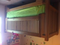 Old cypress twin bed for special needs child