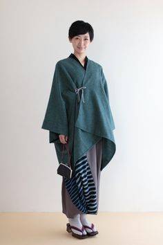 "Our ""Kisaragi"" poncho comes in luxurious cashmere material and various colors. #sousou #poncho #sousouus #womenswear #style #kimono #fashion #wintercoat #winterwear #style #cloak #coat #2015aw"