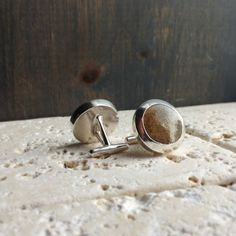 Sterling Silver Custom Sand Cufflinks Choose the by sprout1world