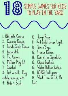 18 Simple Yard Games for Kids (& Giveaway!) - The Chirping Moms - 18 Simple Yard Games for Kids (& Giveaway!) – The Chirping Moms 18 Simple Backyard Games for Kids : The Chirping Moms. Fun Ideas for Outdoor Play. Backyard Games Kids, Outdoor Activities For Kids, Fun Activities, Camping Games For Kids, Outdoor Fun For Kids, Camping 101, Family Camping, Camping Ideas, Toddler Activities